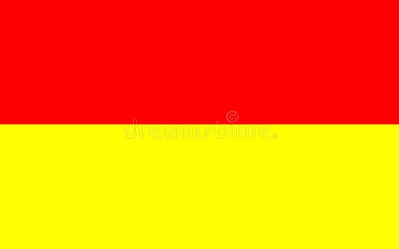 Flag of Wroclaw, Poland. Flag of Wroclaw is the largest city in western Poland royalty free illustration