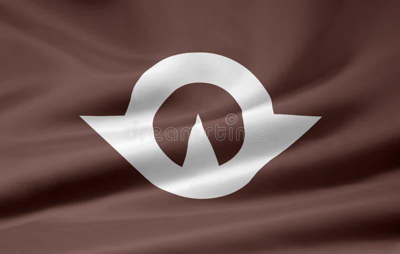 Flag of Yamaguchi - Japan royalty free stock image