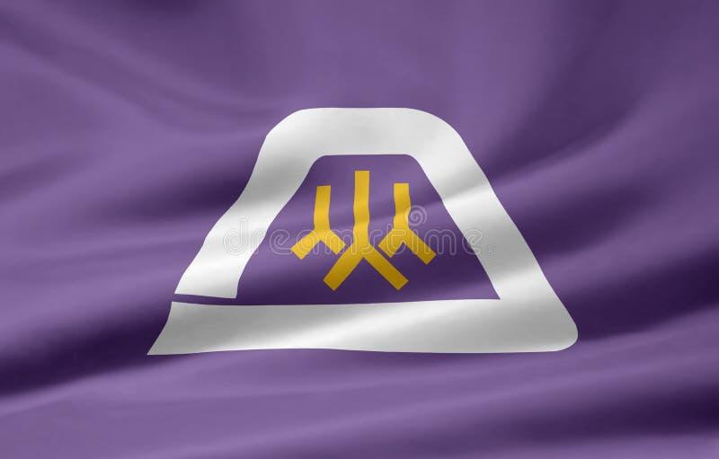 Flag of Yamanashi - Japan royalty free stock photo
