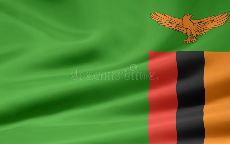 Flag of Zambia stock images