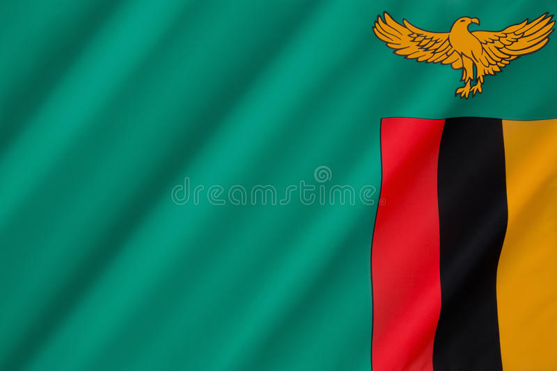 Flag of Zambia. Adopted on 24th October 1964 stock images