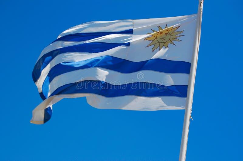 flaga łopotania Uruguay wiatr obrazy royalty free