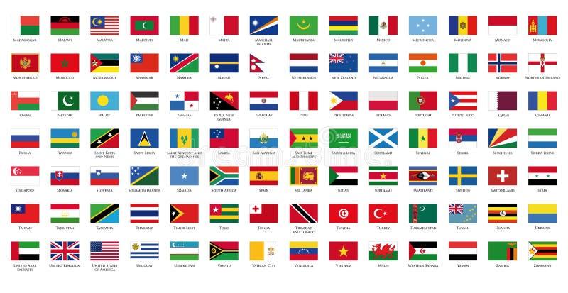 flaga świat ii royalty ilustracja