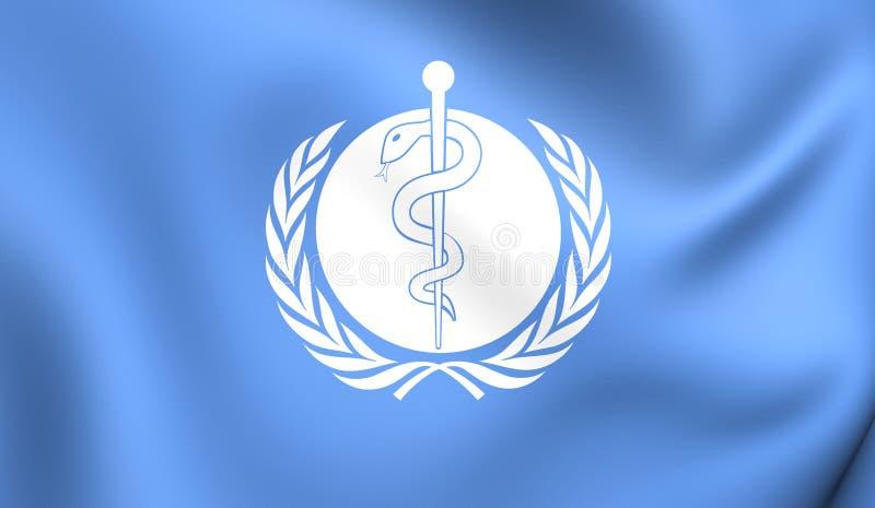 Flaga światowa organizacja zdrowia royalty ilustracja