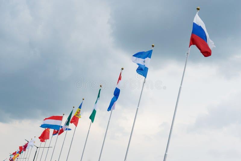 flaga światowi kraje na flagpole zdjęcia royalty free