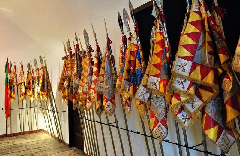Flaga Żadny pułk kawalerii 3 - Smoki Olivença obrazy stock