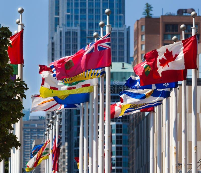 Flaga провинций Канады стоковые изображения rf