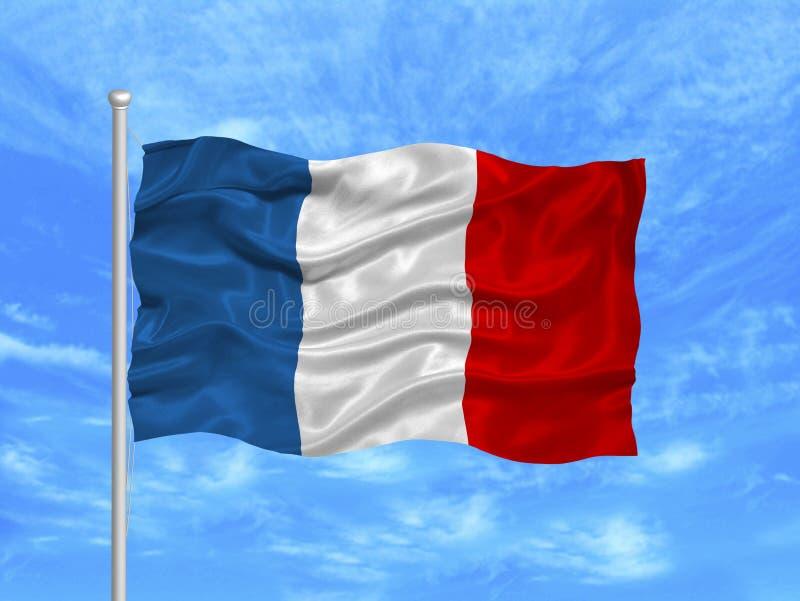 flaga 1 France royalty ilustracja