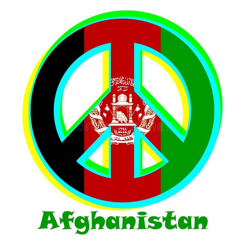 Flaga Afganistan jako znak pacyfizm ilustracja wektor