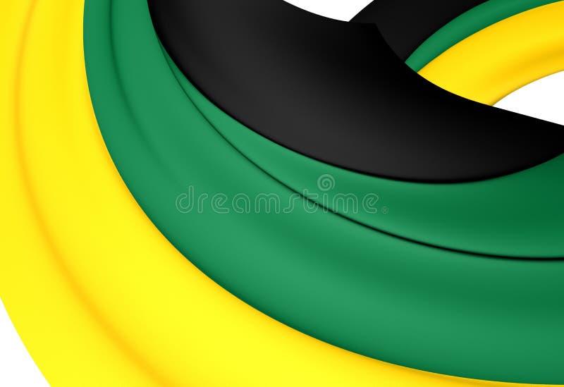 Flaga Afrykański kongres narodowy royalty ilustracja