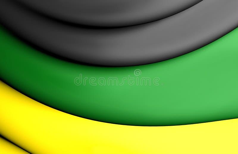 Flaga Afrykański kongres narodowy ilustracji