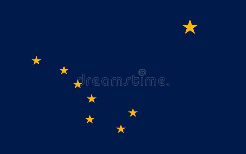 Flaga Alaska, usa obraz royalty free