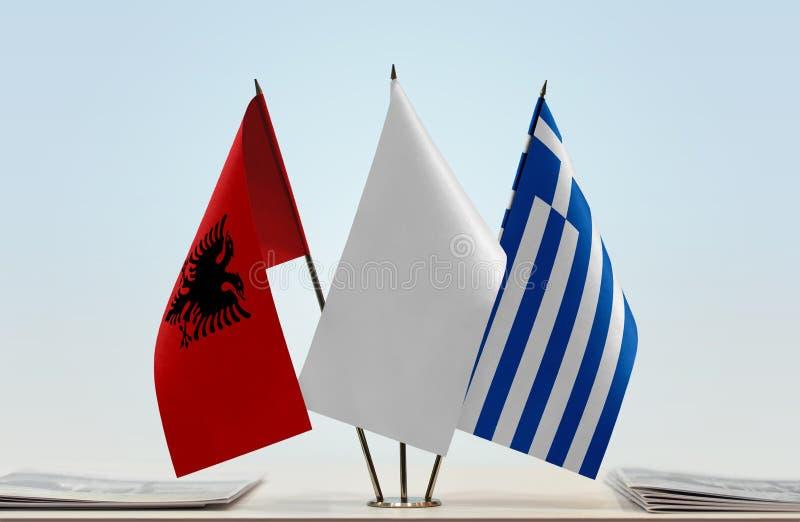 Flaga Albania i Grecja obraz royalty free