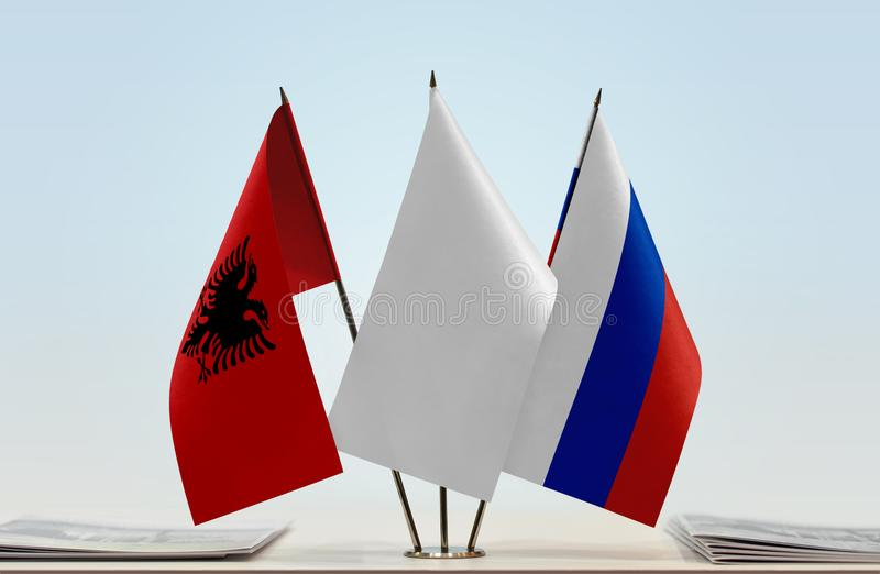 Flaga Albania i Rosja obraz royalty free
