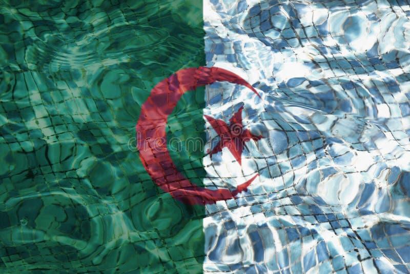 Flaga Algieria tekstura zdjęcie royalty free