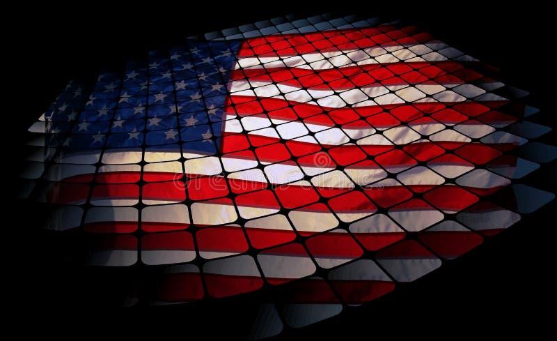 Flaga Amerykańska abstrakt fotografia royalty free