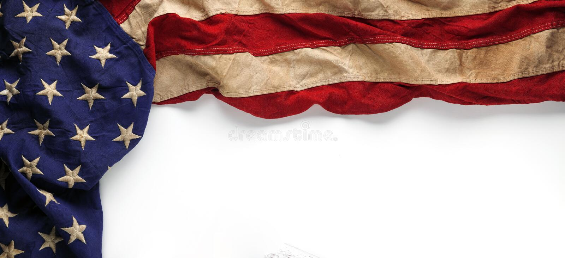 Flaga amerykańska dla dnia pamięci lub weterana ` s dnia tło ilustracji