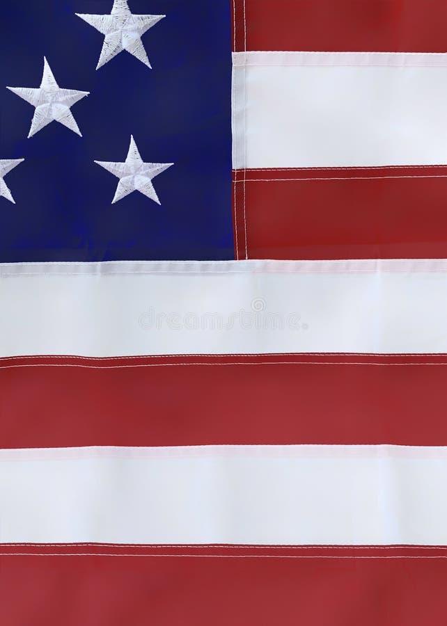 Flaga amerykańska folująca rama jako tło fotografia royalty free