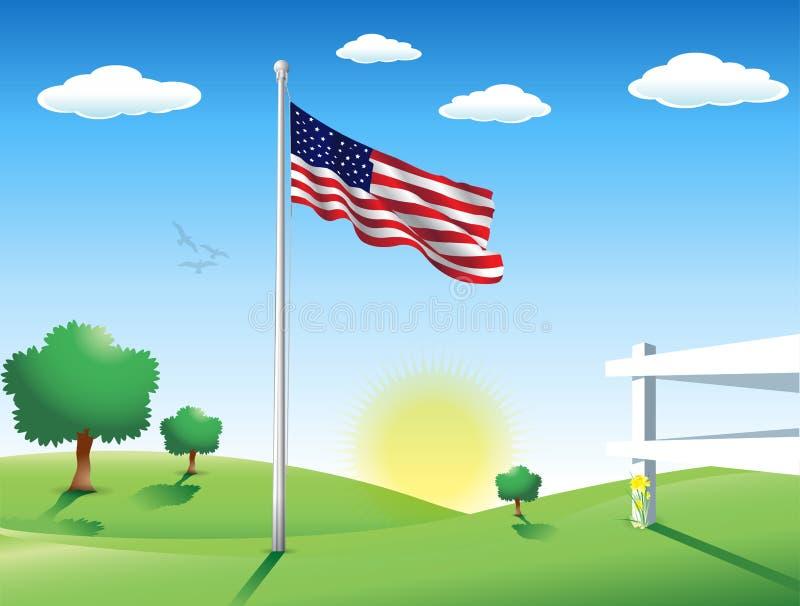 Flaga Amerykańska w Lipu ilustracja wektor