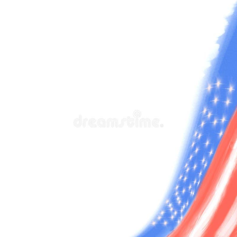 Flaga amerykańska w narożnikowy patriotycznym zdjęcia royalty free