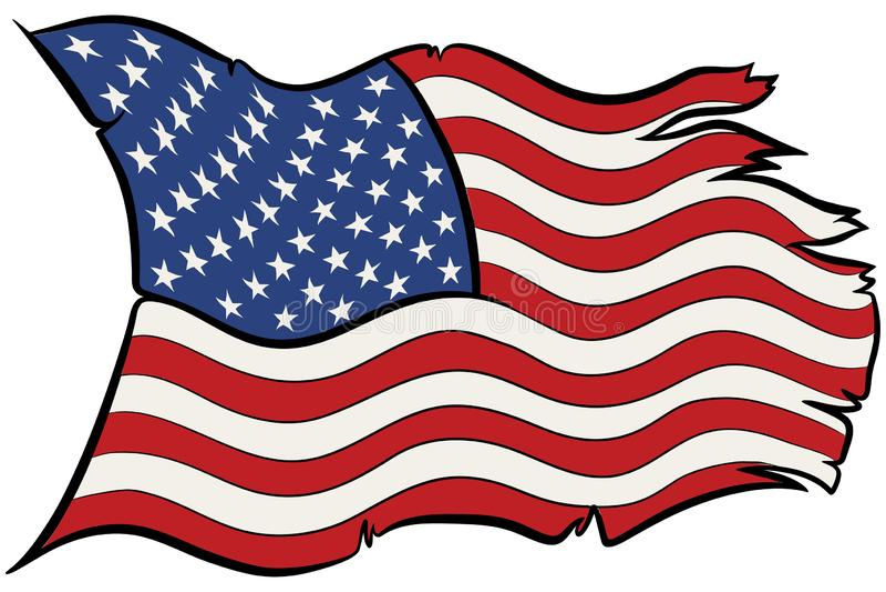 Flaga Amerykańska wektor obrazy stock