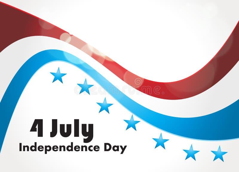 Flaga Amerykańska, Wektorowy tło dla niezależności  ilustracji