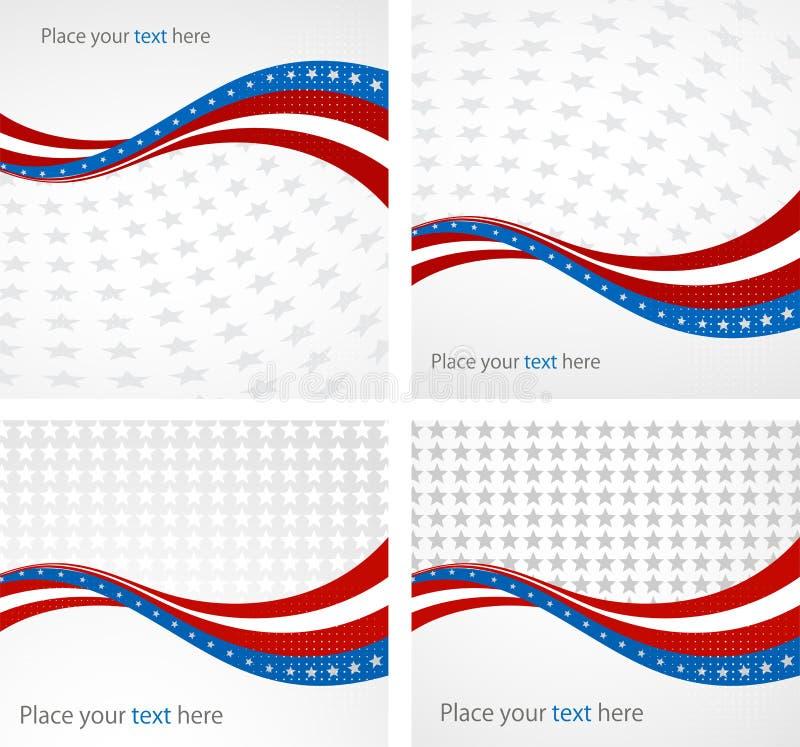 Flaga Amerykańska, Wektorowy tło dla niezależności ilustracja wektor