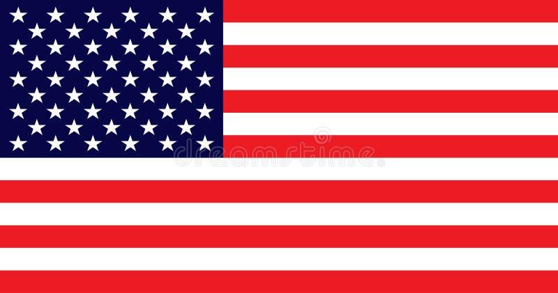 Flaga amerykańska z dobrymi kolorami na lekkim wapno koloru tle USA Zaznacza wektor eps10 usa bandery amerykańska flaga ilustracji
