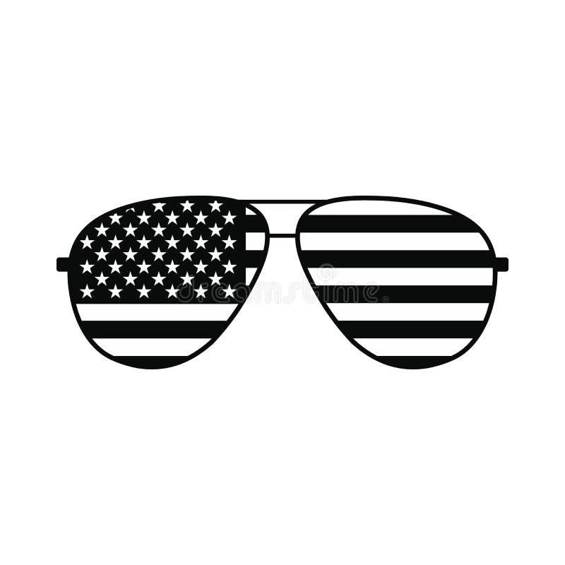 Flaga amerykańskich szkieł ikona ilustracja wektor