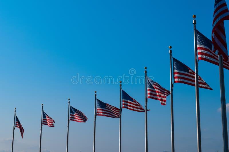 Flaga amerykańskie w rzędzie zdjęcie royalty free