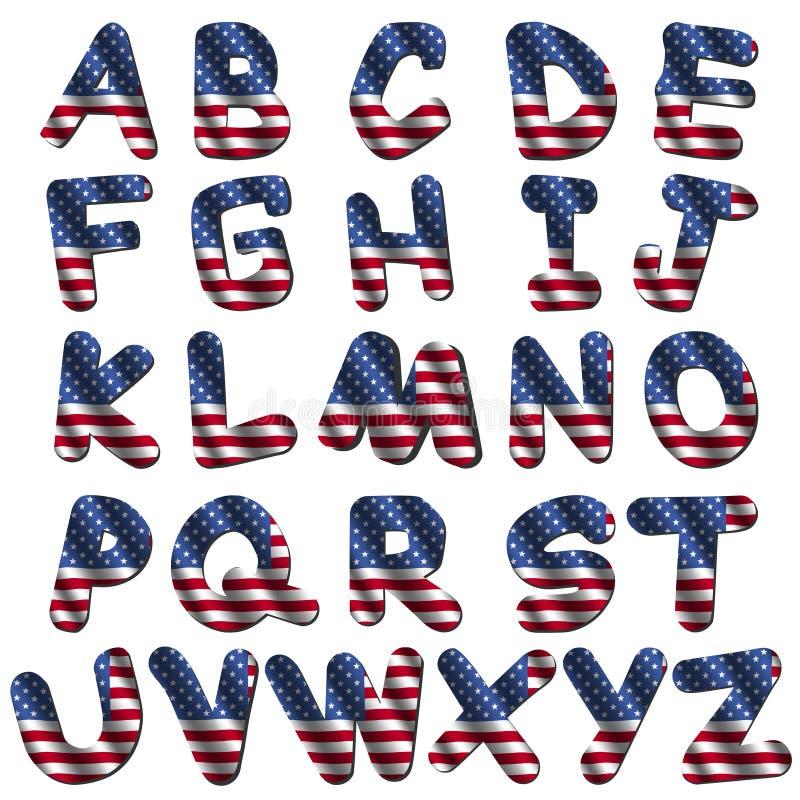 flaga amerykańskiej chrzcielnica ilustracja wektor