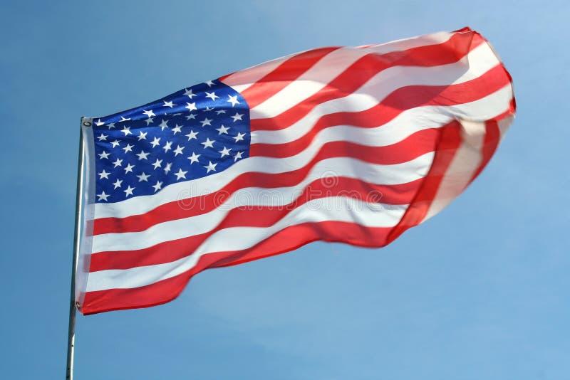 flaga amerykańskiej falowanie obraz royalty free
