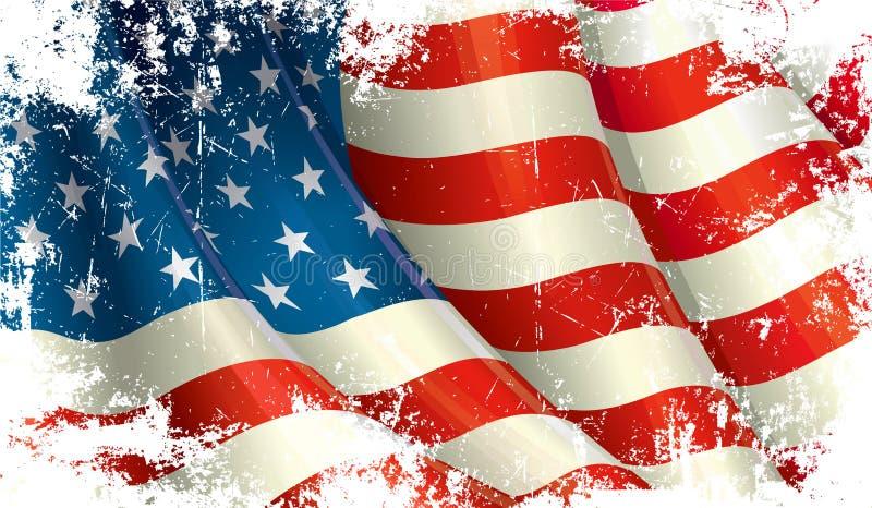 flaga amerykańskiej grunge ilustracji