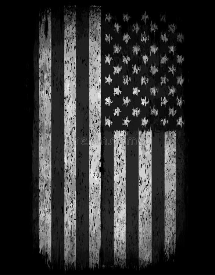 flaga amerykańskiej grunge Amerykańska grunge flaga dla tła o royalty ilustracja