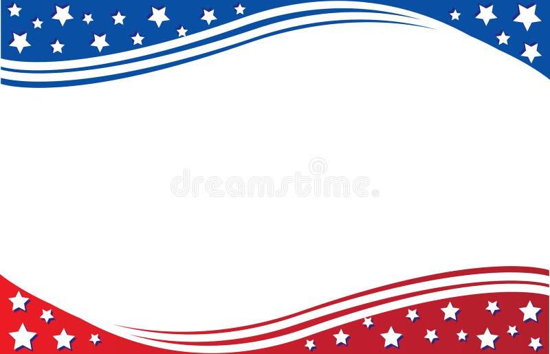 Flaga Amerykańskiej pocztówki szablon obraz royalty free