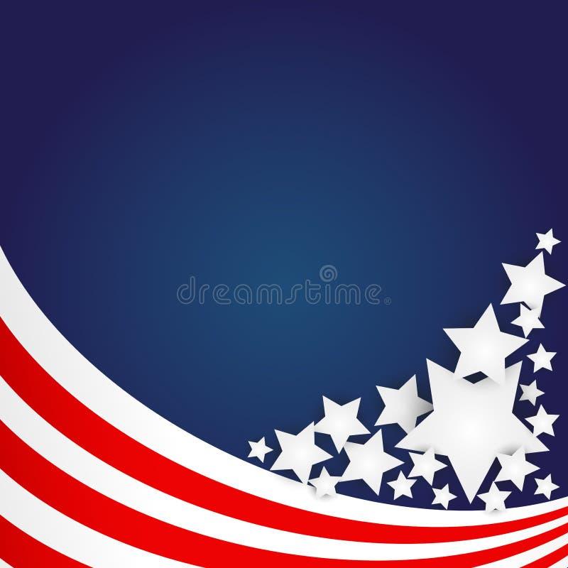 Flaga Amerykańskiej Tło royalty ilustracja