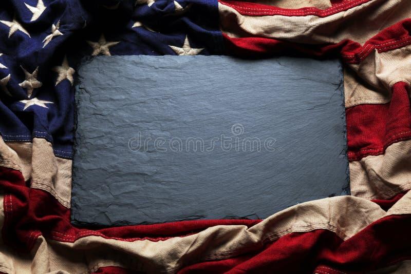 Flaga amerykańskiej tło dla dnia pamięci lub 4th Lipiec zdjęcie stock