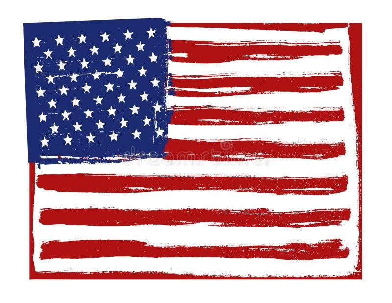 Flaga amerykańskiej tło Horyzontalna orientacja ilustracja wektor
