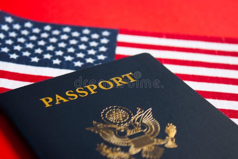 flaga ameryka?ska paszport obraz royalty free