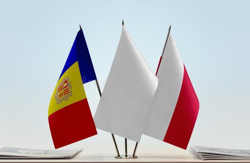 Flaga Andorra i Polska zdjęcie stock