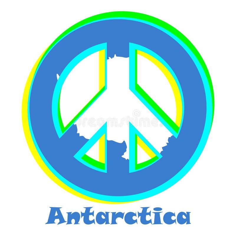 Flaga Antarctica jako znak pacyfizm ilustracja wektor