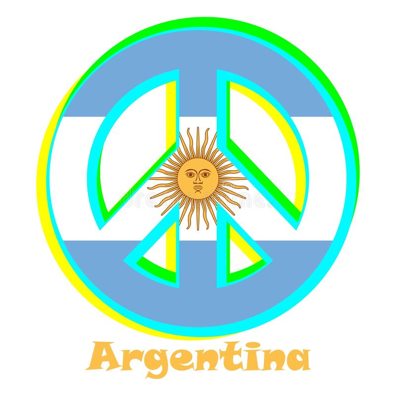 Flaga Arentina jako znak pacyfizm royalty ilustracja