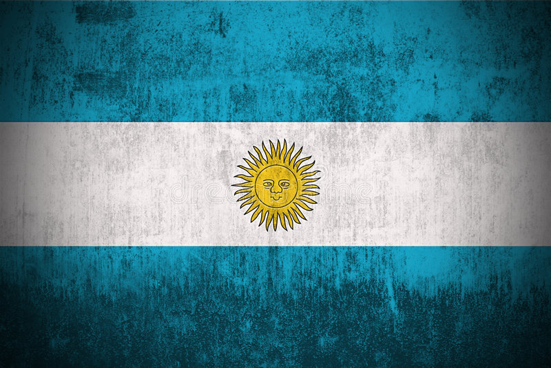 flaga argentina crunch ilustracji