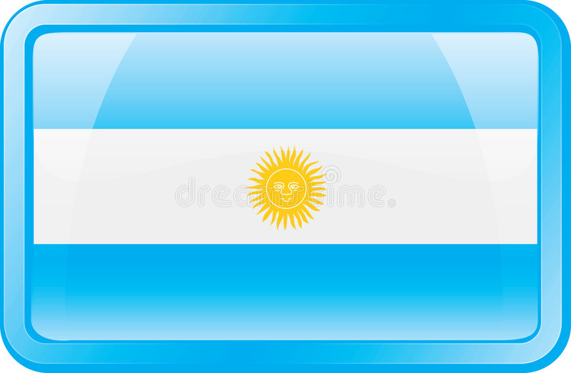 flaga argentina ikony ilustracji