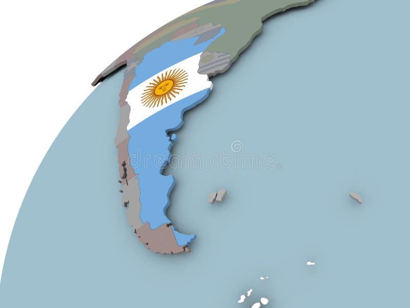 flaga argentina mapa ilustracja wektor