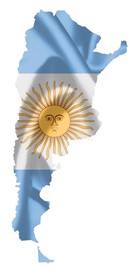 flaga argentina mapa ilustracji