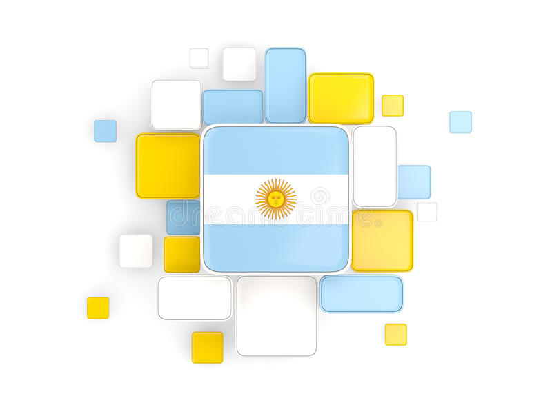 Flaga Argentina, mozaiki tło ilustracji