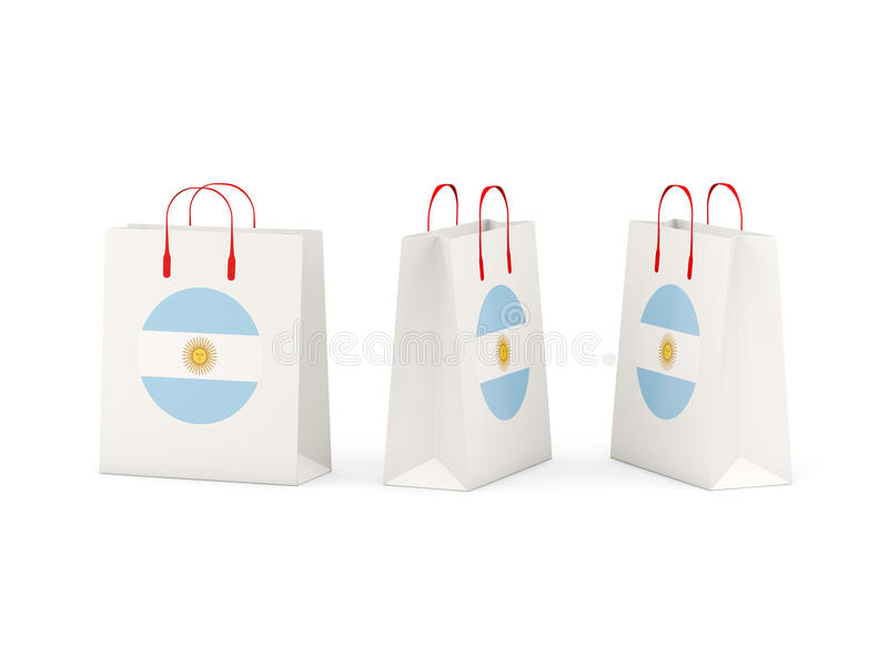 Flaga Argentina na torba na zakupy ilustracja wektor