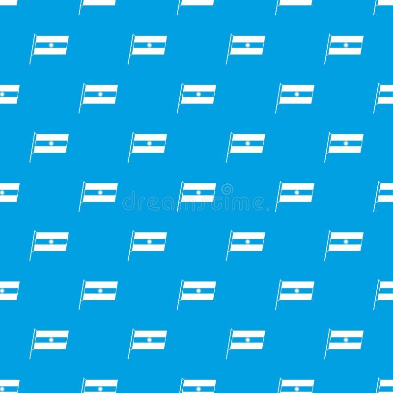 Flaga Argentyna deseniowy bezszwowy błękit ilustracja wektor
