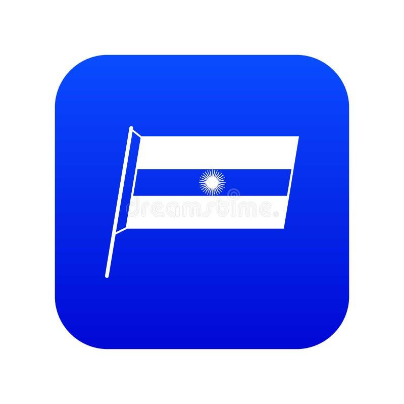 Flaga Argentyna ikony cyfrowy błękit royalty ilustracja